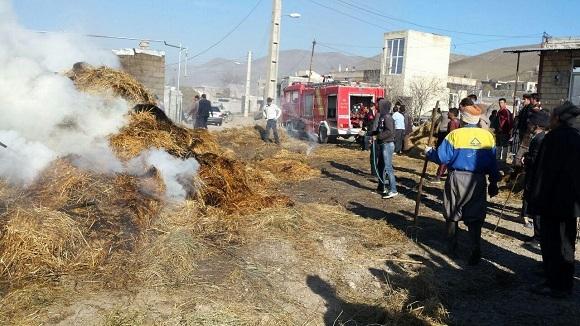 آتش سوزی در روستای بران سفلی