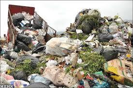 دفع زباله در روستا
