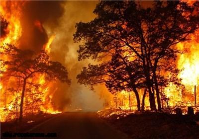 آتش سوزی مراتع روستایی