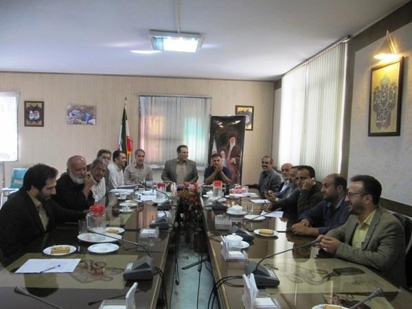 جلسه انتخابات اعضای شورای اسلامی بخش کن