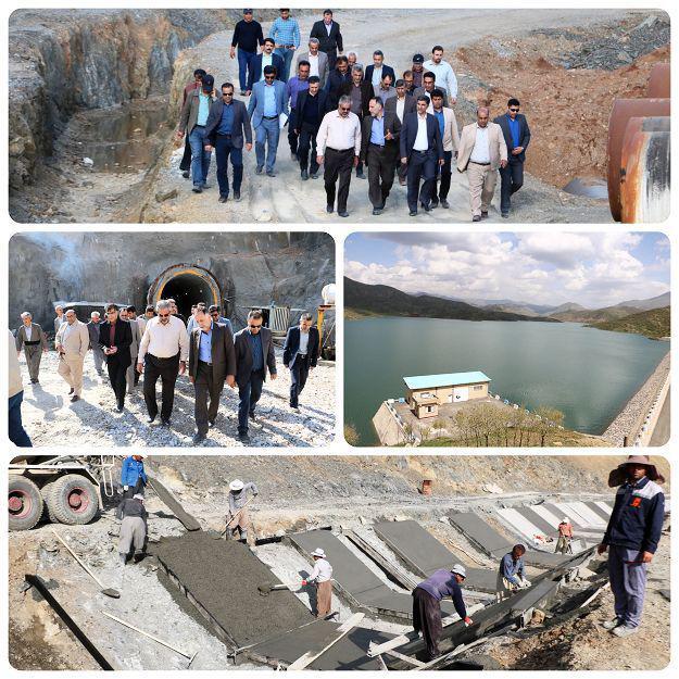  بازدید استاندار استان کردستان از شبکه آبیاری تحت فشار سدگاران