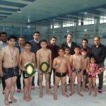 برگزاری مسابقات شنا در مجموعه ایثارگران قمصر
