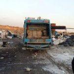 توقیف کامیونت حمل زباله به گل حصار به همت دهیاری گل حصار
