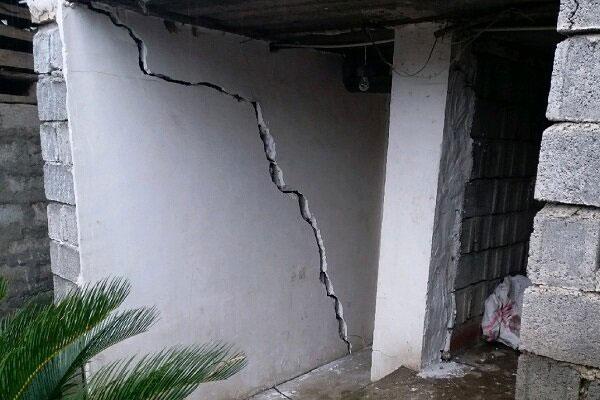 رانش زمین در روستای لیلیم املش ، براثر بارش باران