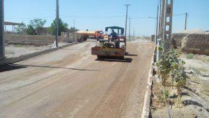 عملیات زیرسازی اسفالت معابر روستای غنی آباد
