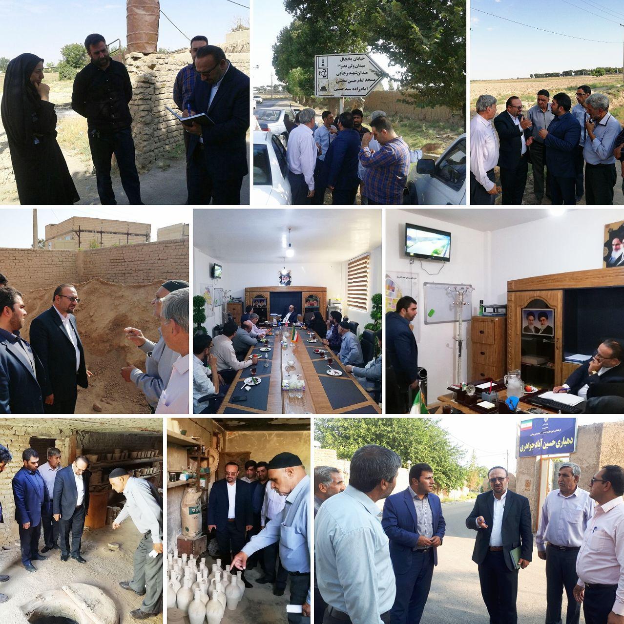 بازدید روستایی بخشدار ورامین